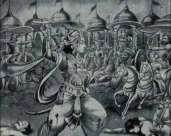 40% OFF SALE Poster, Many Sizes Available; Abhimanyu Battling Alone In The Chakravyuha