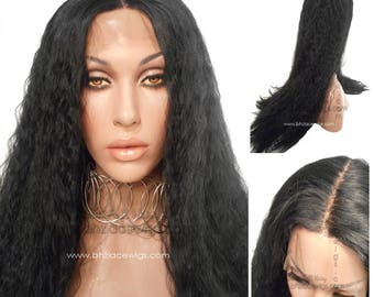 Empress deep part loose kinky wave Black Lace front wig, long Lace Front wig Nicki Minaj wig Cher hair lace front wig drag queen lace wig