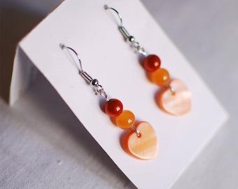 My little orange heart - earrings