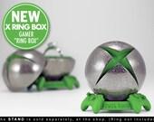 X Ring BOX - proposal ring box, engagement ring box, xbox, x-box, gamer, geekery, ring case, wedding, marriage, matrimony, game, geek box