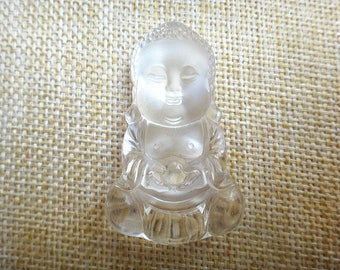 Natural White Crystal Baby Buddha Pendant
