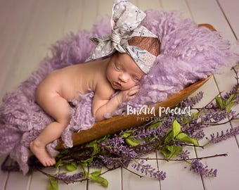 ASH FLORAL Gorgeous Wrap- headwrap; fabric head wrap; floral head wrap; boho; newborn headband; baby headband; toddler headband