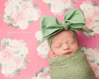 LIGHT OLIVE Gorgeous Wrap- headwrap; fabric head wrap; green head wrap; boho; newborn headband; baby headband; toddler headband