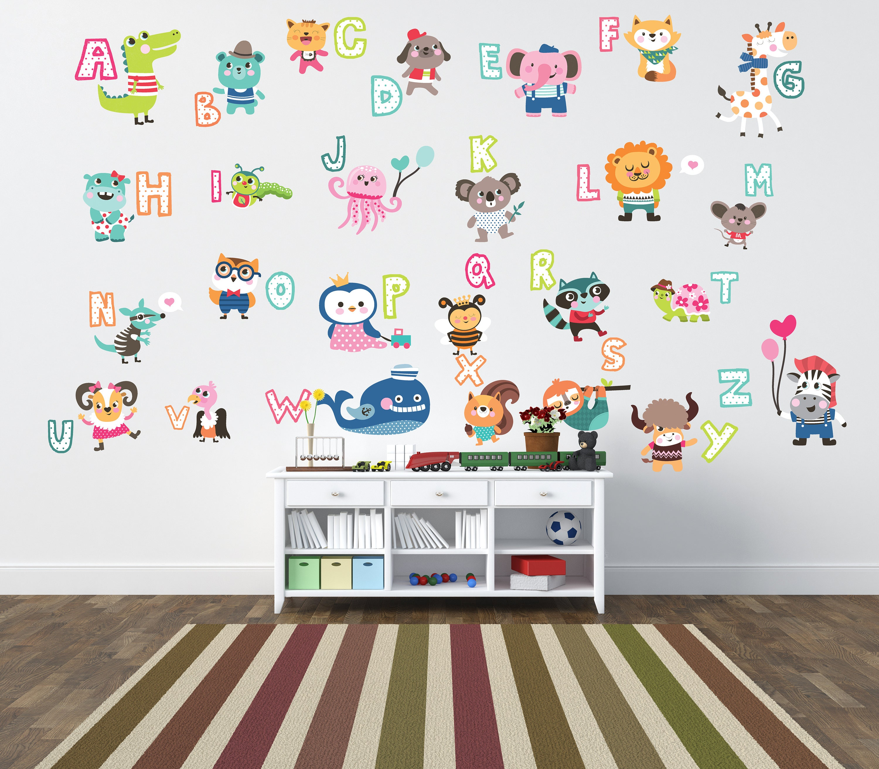 ABC Letter Wall Decals Letter Wall Stickers Alphabet Wall