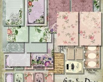 Gather Your Dreams Mini Album Papers & Ephemera