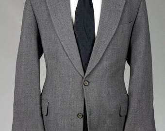 ON SALE Vintage Rene Lezard Gray 2 Piece Wool Suit 44 R Italy
