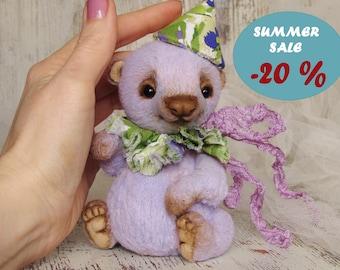 OOAK Bear, artist teddy baby bear, miniature art toy, stuffed animals, soft critters, dolls, plushies SALE DISCOUNT
