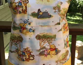 Winnie the Pooh apron, Halloween costume apron, Pooh Bear, Eeyore, Tigger apron, pre-school teacher apron, daycare provider gift, nursery