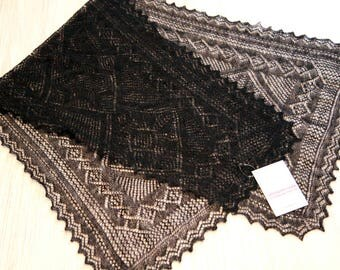 russian genuine shawl Orenburg goat down 47,2x 15,7 inches new with tag