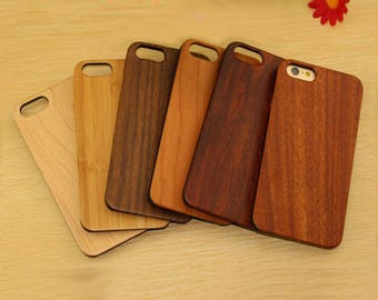 Custom iPhone Case. Personalized or Plain Cover. Add Logo Name Words Graphic Image Picture. Eco-Friendly Wood