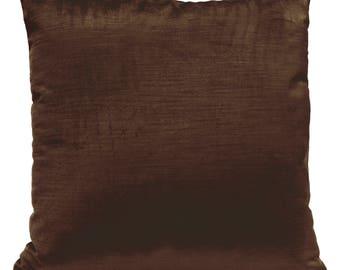 Chocolate Brown Pillow Cover, Throw Pillow Cover, Decorative Pillow Cover, Cushion Cover, Pillowcase, Accent Pillow, Velour Pillow.