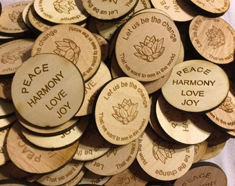 20 Personalized Inspirational Tokens, 20 tokens