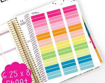 LS312 Summer Blank MDN Headers! Set of 60 Perfect for the Erin Condren Planner!!!