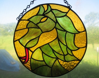 Dragon Fantasy Stained Glass Suncatcher