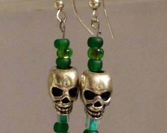 Green and Silver Skulls