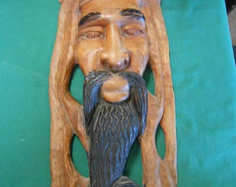 Great Rastafarian Wood Carving Wall Plaque #3