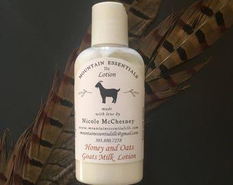Honey and oats Goats milk lotion