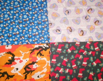 Snoopy Red Baron, Peanuts, Disney Princess', Ghost Camo, Stockings Remnants Sold Individually, Not As a Group