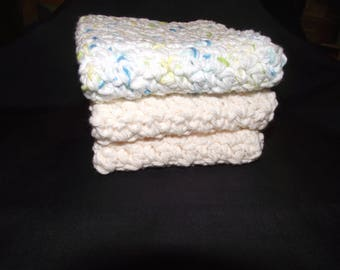 100 percent cotton crocheted dishcloth