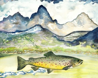 Trouts in the Tetons