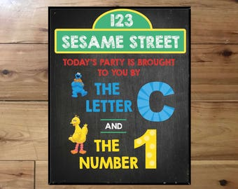 Sesame Street Birthday Poster-Printed & Shipped to Canada