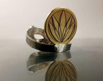 Lotus silver ring |Adjustable lotus flower ring |Golden plated flower ring |Adjustable flower ring |Silver lotus ring |