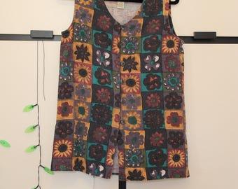Vintage Jonathan Martin Sunflower Vest