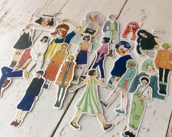 Girl stickers/ Fashion girl stickers/ Planner, Journal deco/ Lifestyle sticker set/ teenage girls