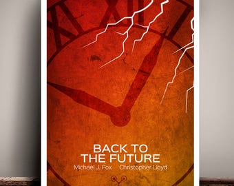 Back To The Future // Michael J Fox // Minimalist Movie Poster // Unique Art Print