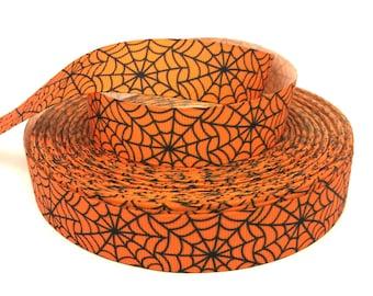 Spider Web Ribbon, Spider Ribbon, Halloween Ribbon, Spider Web Grosgrain, Spider Grosgrain, Halloween Grosgrain, Halloween Trim, Spider Trim