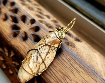 Picture Jasper Necklace of Vision and Removing Creative Blocks