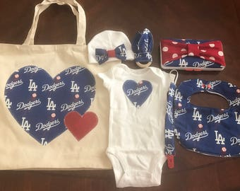 Los Angeles dodgers baby gift set
