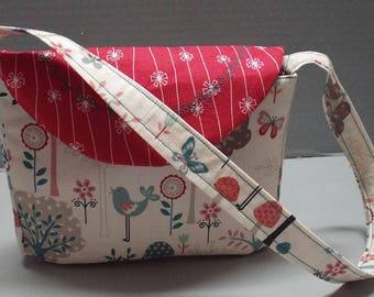 Toddler Purse - Girls Purse - Girls Handbag - Girls Tote - Garden Party Woven Cotton Fabric