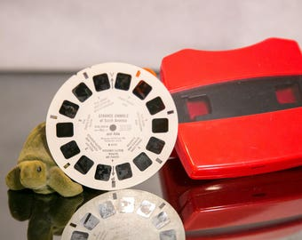 Vintage Red ViewMaster with Reel - Strange animals of South America