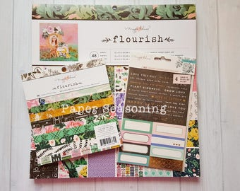 Maggie Holmes Flourish Paper pad and sticker set