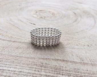Soft little balls 925 Silver ring