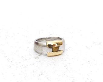Ring in silver and gold hermes H