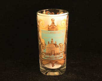 Vintage Williamsburg, Virginia Travel Souvenir Drink Glass Tumbler