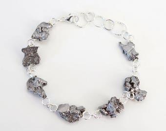 Sterling Silver Meteorite Space Bracelet