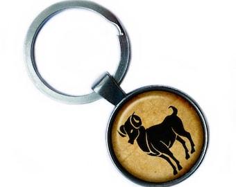 "Zodiac ""Aries"" Keychain Keyring"