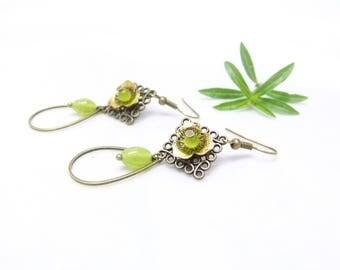 Art Nouveau earrings ~. ~ Ophelia ~. ~