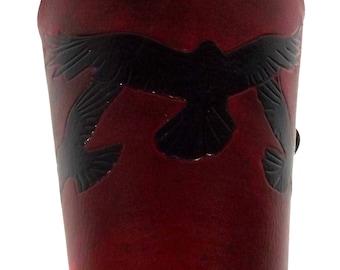 Made to Order RAVENS Bracer Leather Vambrace - LARP Armour
