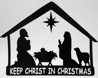 Vinyl Decal, Christmas Nativity Scene