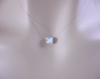 """Elegant and simple rhinestone necklace """"Solitaire Strass"""""""