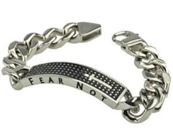 """Shield Cross Bracelet """"Fear Not"""""""