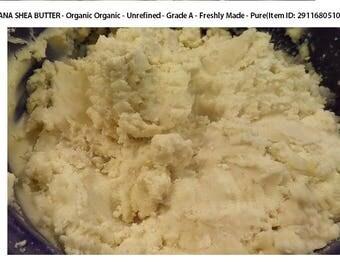 Ghana Shea Butter - Organic Organic - Unrefined - Grade A - Freshly Made - 16 White Ivory