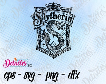 Slytherin House SVG, Harry Potter, eps dxf pdf png, Cut Files Designs for Silhouette Studio and Cricut Design - Digital Instant Download