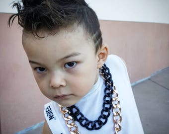 Baby Necklace,  baby jewelry, kids Necklace, Boy Necklace, Girl Necklace, Big Chain Necklace,  Hip Hop Necklace,  Gold Necklace.