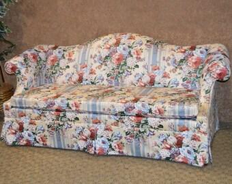 Ethan Allen Romantic Style Sofa w/Skirted Bottom