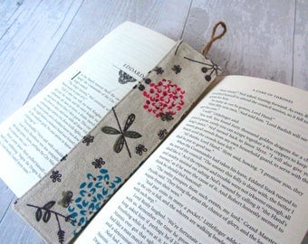 Floral Bookmark - Bookmark - Gift for Her - Fabric Bookmark – Teacher Gift – Party Favour – Bookworm Gift – Book Lover – Stocking Filler